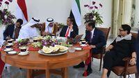 Jokowi saat bertemu dengan Sheikh Mohammed bin Zayed Al-Nahyan di Istana Bogor pada Juli 2019 lalu,