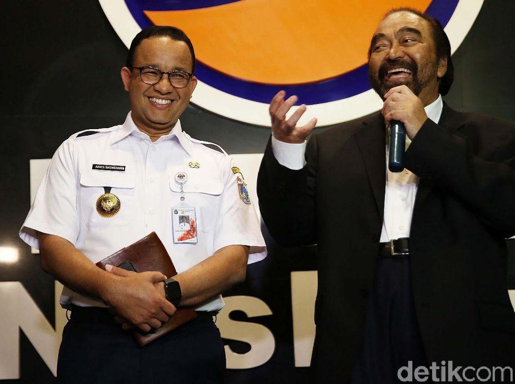 Surya Paloh Ikut Senang Pertemuan Megawati dan Prabowo