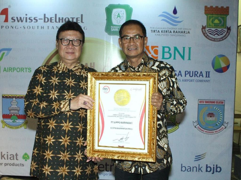 Lippo Karawaci Raih Penghargaan Korporasi Banten Maju