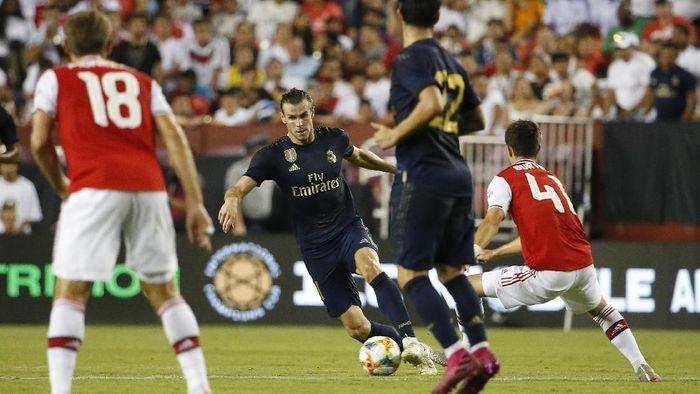 Gareth Bale mencetak satu gol saat Real Madrid mengatasi Arsenal di ICC 2019. (Foto: Amber Searls-USA TODAY Sports)