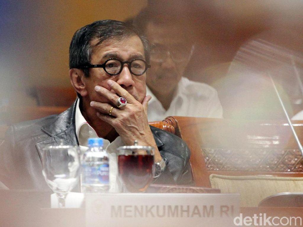 2 Kali Tak Hadiri Rapat di Komisi II, Ini Penjelasan Menkum HAM