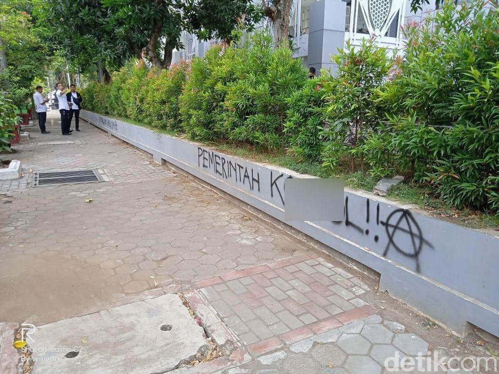 Tembok Pemkab Bojonegoro Jadi Sasaran Vandalisme, Iseng atau Protes?