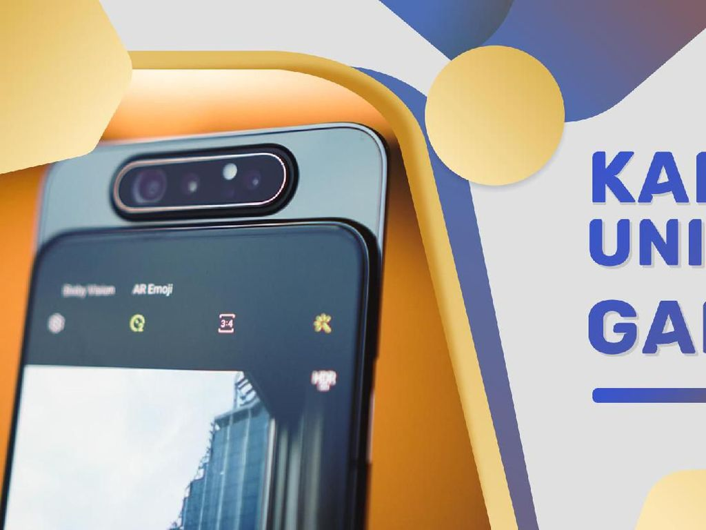 Godaan Kamera Pop-up Rotating Galaxy A80