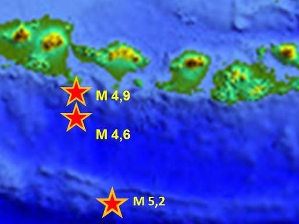 BMKG Jelaskan 3 Gempa Signifikan yang Guncang Selatan Bali