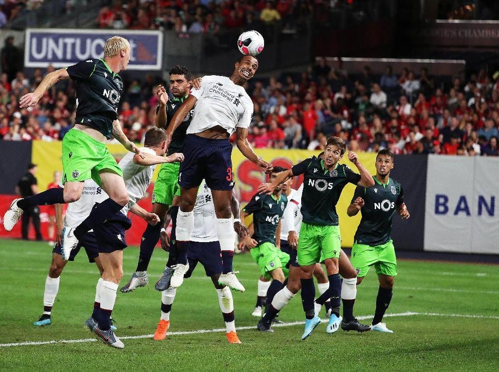 Liverpool vs Sporting Tuntas 2-2, The Reds Tanpa Kemenangan di AS