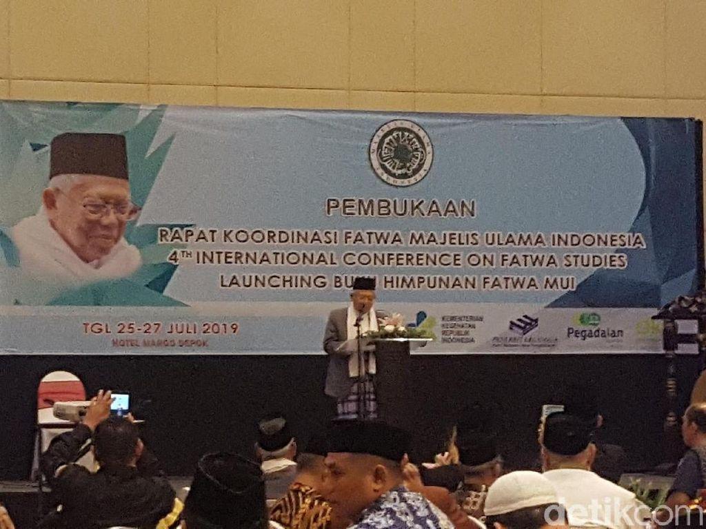 Di Rakor Fatwa MUI, Maruf Amin Ucapkan Terima Kasih Jadi Wapres Terpilih