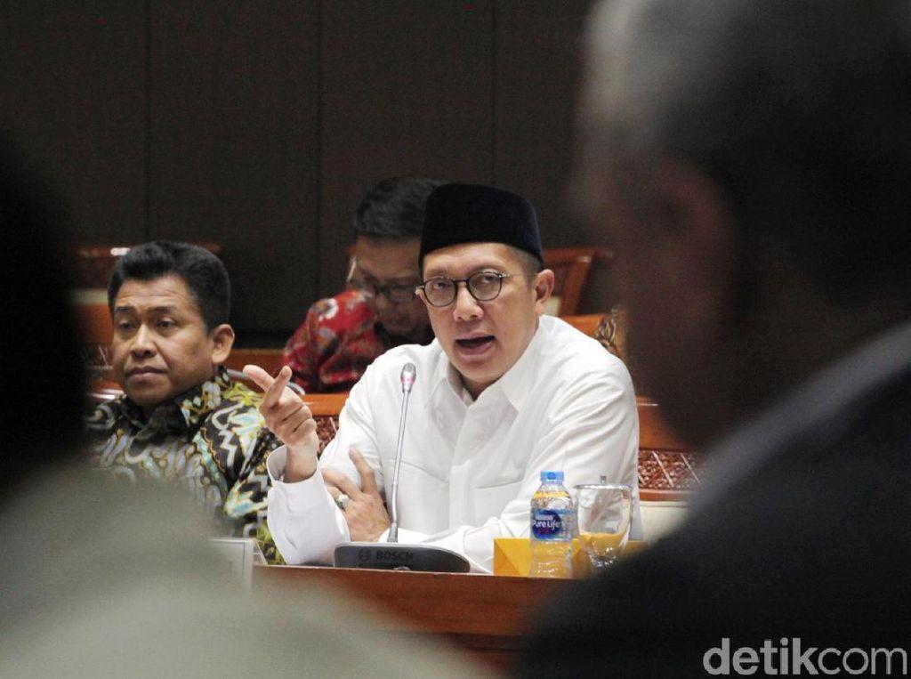 Menag Lukman Rapat Bareng Komisi VIII DPR