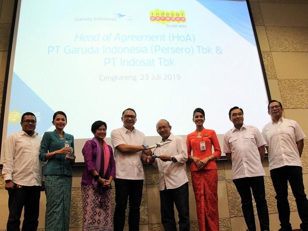 Digitalisasi Layanan, Garuda Gaet Indosat Ooredoo