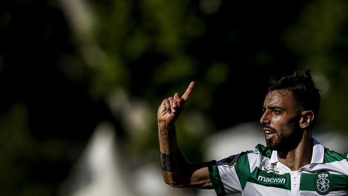 Manchester United batal merekrut gelandang Sporting CP Bruno Fernandes. Foto: PATRICIA DE MELO MOREIRA / AFP