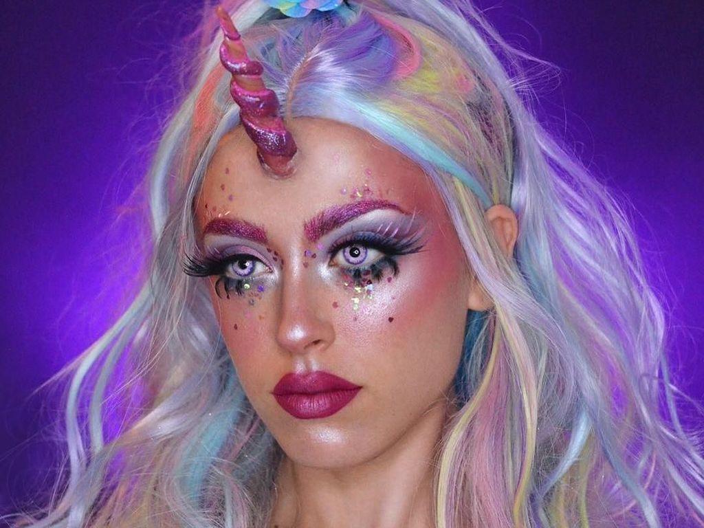Foto: Gemasnya, Makeup Warna-warni Bertema Unicorn
