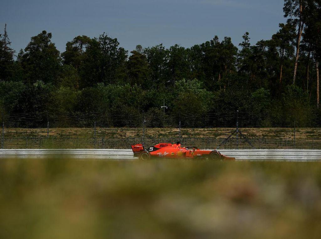 Vettel Tercepat di FP1 GP Jerman, Ferrari Berkuasa
