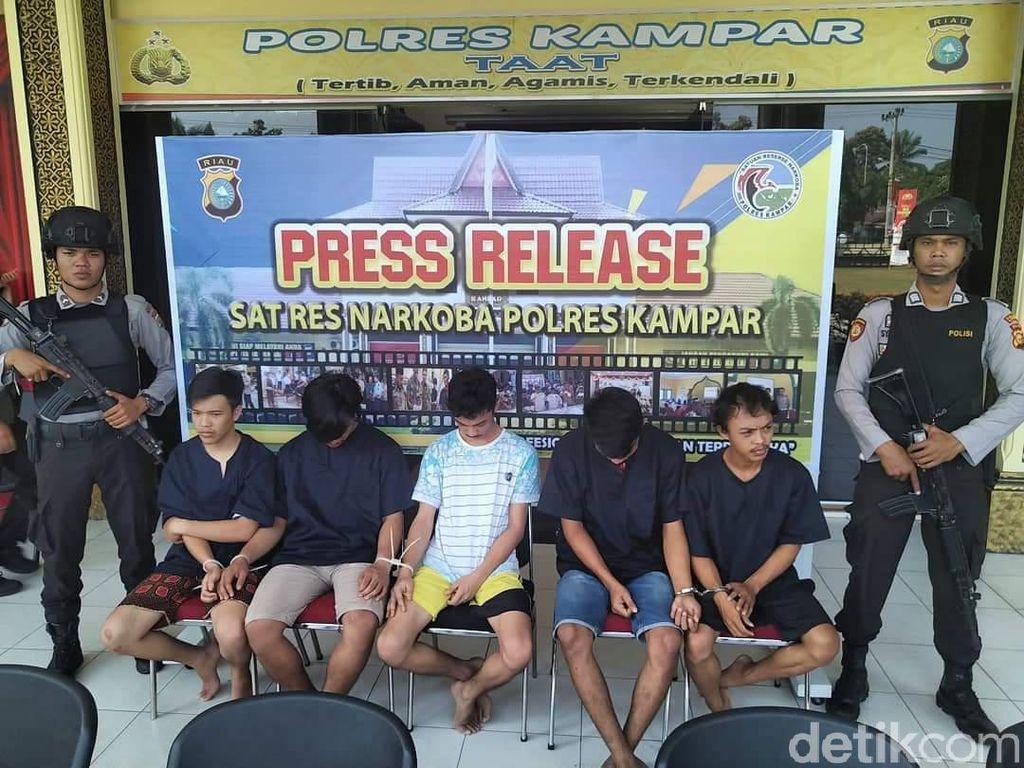 Komplotan Pengedar 4,5 Kg Sabu di Kampar Riau Diciduk