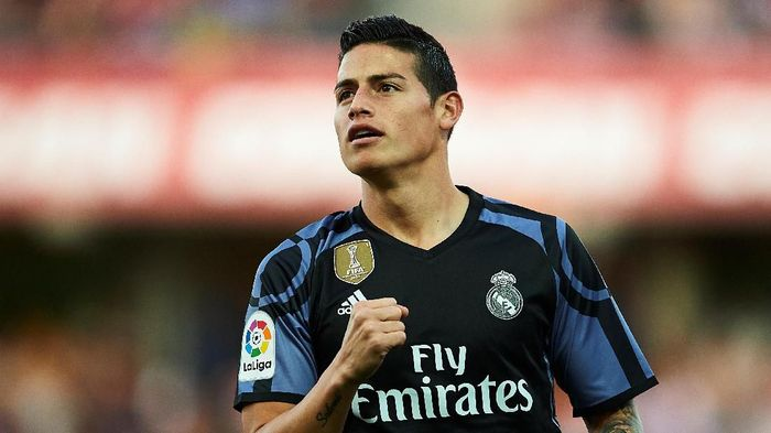 James Rodriguez tak masuk rencana Real Madrid musim ini. (Foto: Aitor Alcalde / Getty Images)