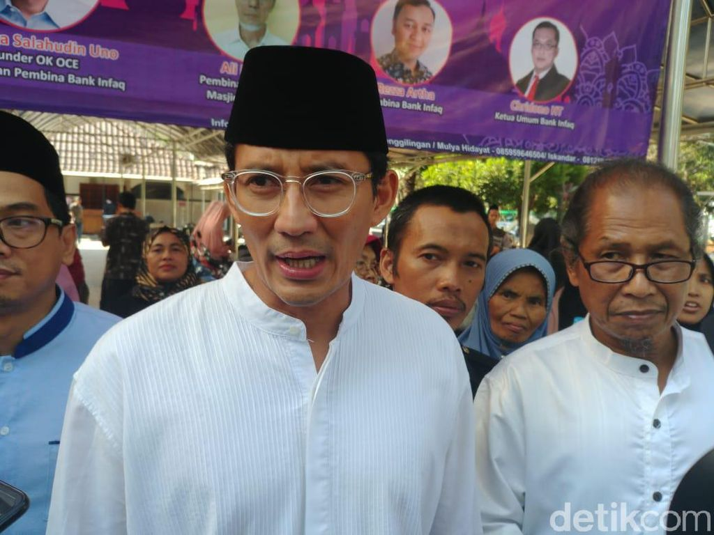 Sandiaga soal Ide 55-45: Koalisi Jokowi Sudah Banyak Sekali
