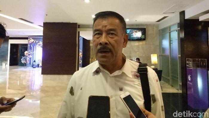 Umuh Muchtar mengancam mundur dari jabatan manajer Persib Bandung. (Foto: Amalia Dwi Septi/detikSport)