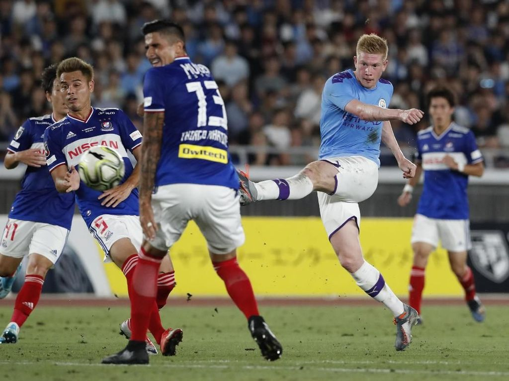 Laga Pramusim: Man City Kalahkan Yokohama F Marinos 3-1