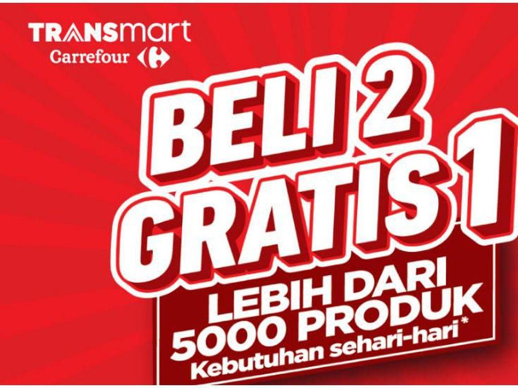Masih Ada Kesempatan! Beli 2 Produk, Gratis 1 Lagi di Transmart Carrefour