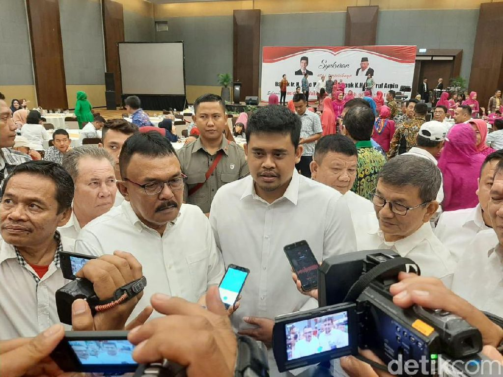 Bobby Nasution Hadiri Syukuran Terpilihnya Jokowi-Amin di Medan