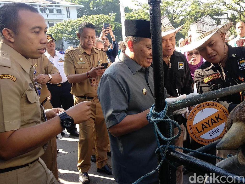100 Petugas Patroli Keliling Bandung Periksa Kesehatan Hewan Kurban