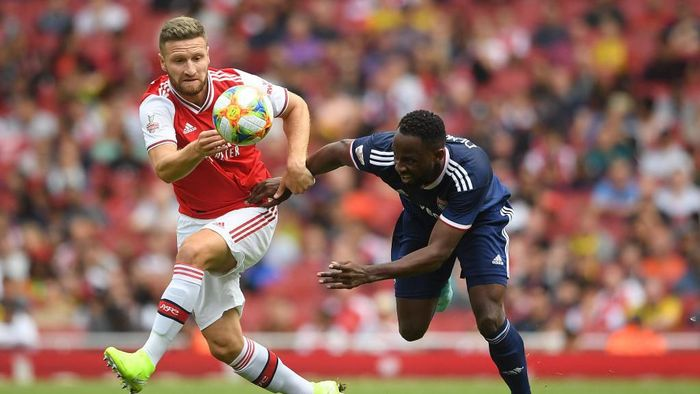 Arsenal kalah 1-2 dari Olympique Lyonnais di Emirates Cup. (Foto: Michael Regan/Getty Images)