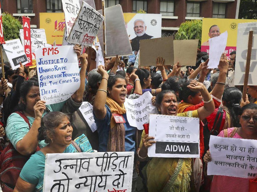 Gadis Korban Pemerkosaan Politikus Kritis Usai Kecelakaan, Publik India Marah