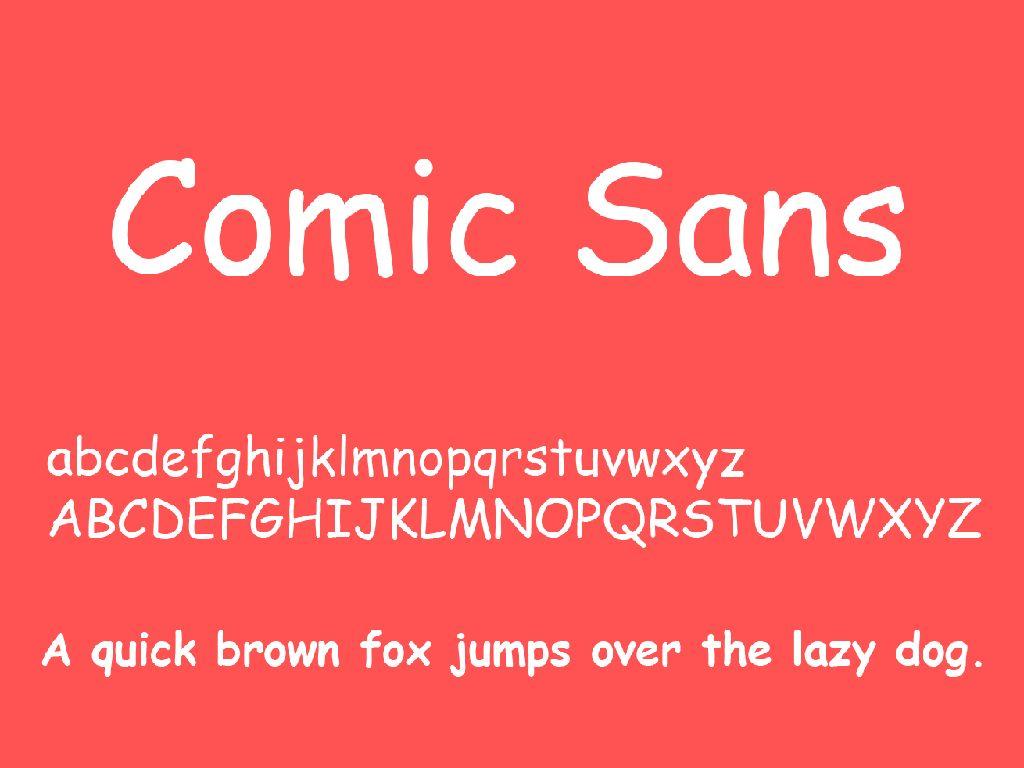 Tak Suka Lihat Font Comic Sans? Mungkin Ini Alasannya