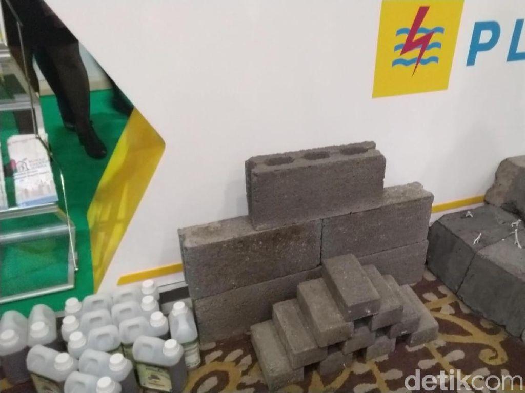 Limbah Pembangkit Listrik Disulap Jadi Batako hingga Paving Block
