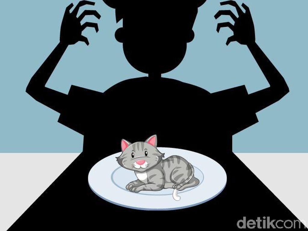 Makan Kucing untuk Unjuk Gigi, Abah Grandong Dicari Polisi
