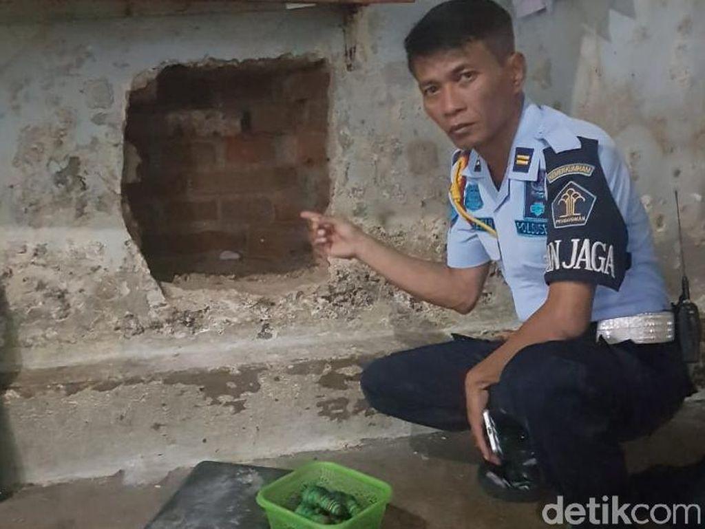 Kelabui Petugas, Tahanan Rutan Solo Tutupi Tembok Jebol dengan Sajadah