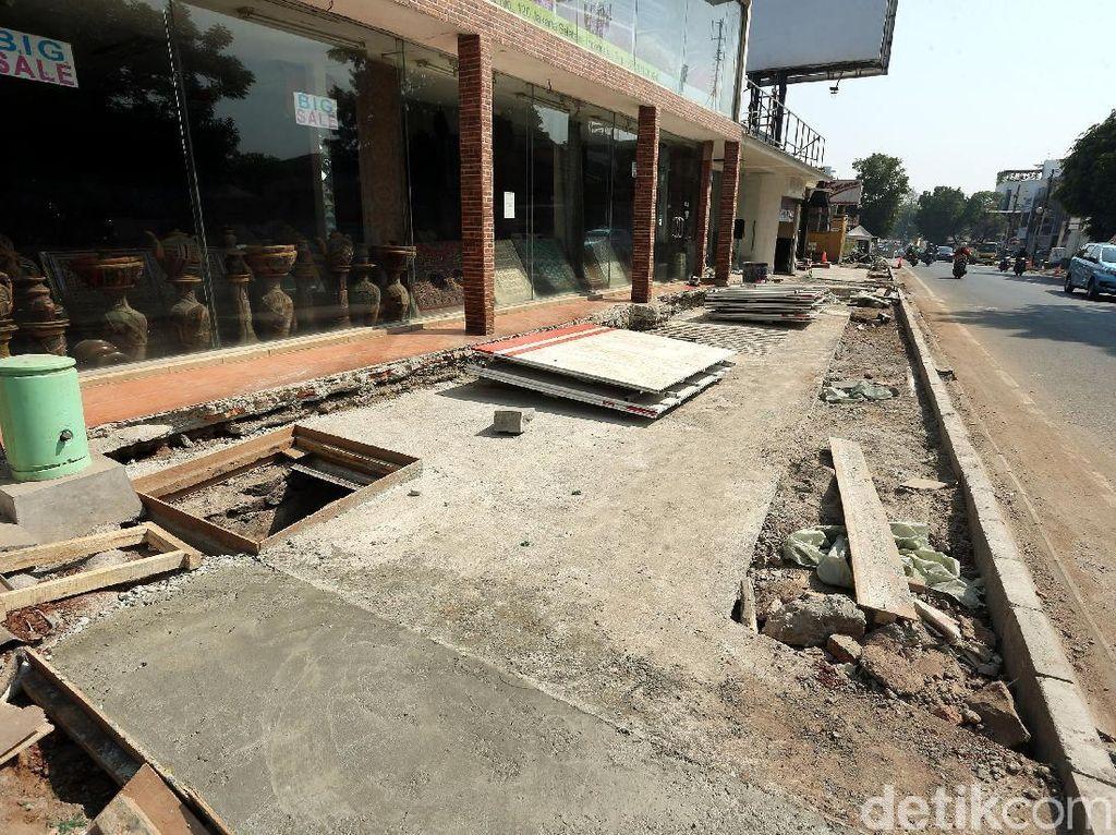 Anggaran Penataan Trotoar di Senopati-Gunawarman Jaksel Capai Rp 60 M