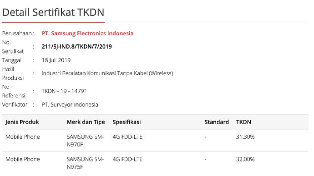 Penuhi Syarat TKDN, Galaxy Note 10 Bakal Melenggang Resmi