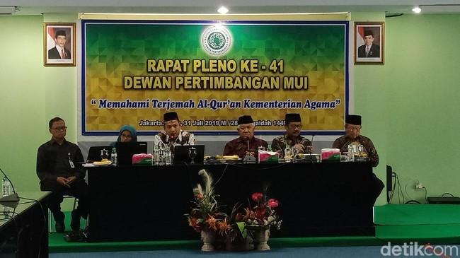 MUI Gelar Pleno Bahas Alquran Terjemahan Kemenag Edisi 2019