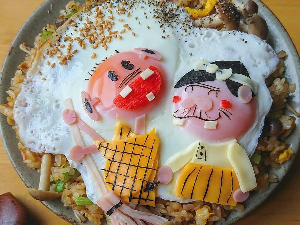 Keren! Telur Ceplok yang Disulap Jadi 10 Karakter Kartun Populer