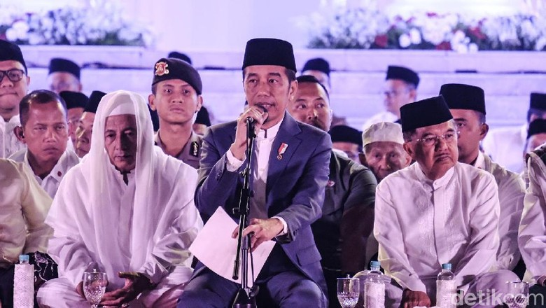 Sambut HUT Ke-74 RI, Jokowi Gelar Doa Kebangsaan di Istana