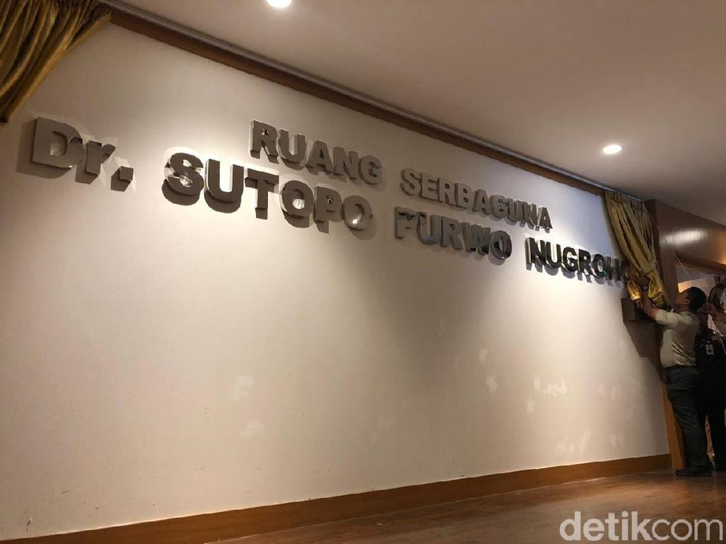 Nama Sutopo Purwo Diabadikan Jadi Ruangan di Gedung BNPB