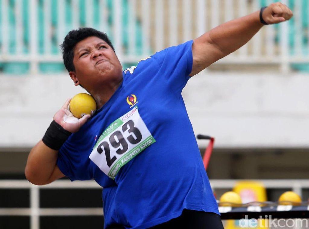 Eki Febri Raih Emas dari Tolak Peluru di Kejurnas Atletik