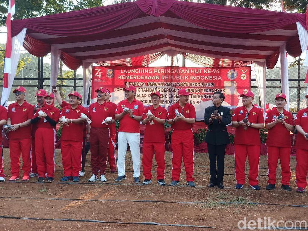 Launching Peringatan HUT RI Ke-74, Kemendagri dan BNPP Pecahkan 2 Rekor Muri
