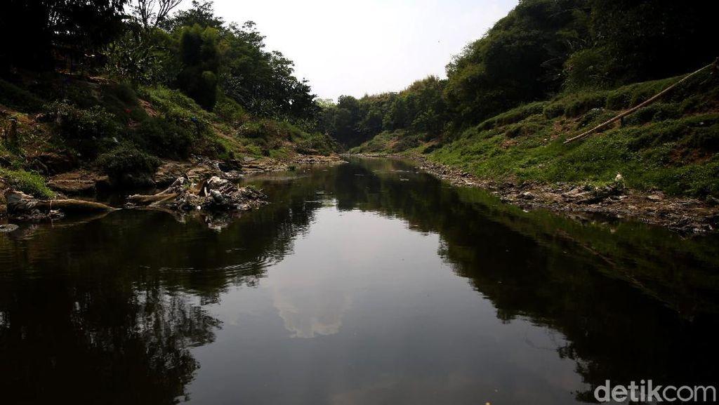 Potret Sungai Cileungsi yang Tercemar Hingga Menghitam