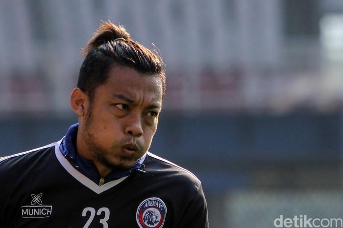 Arema FC menjalani latihan di Stadion Utama Gelora Bung Karno, Jakarta, Jumat (2/8/2019). Latihan itu sebagai persiapan menghadapi Persija besok.