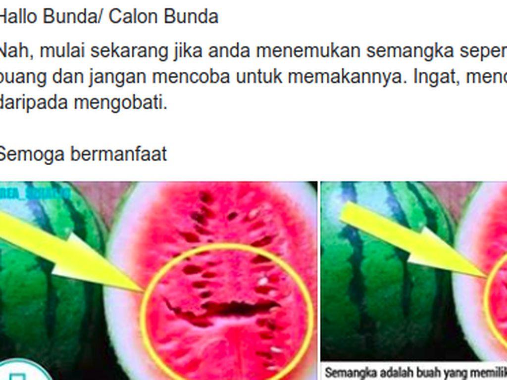 Viral Konsumsi Semangka yang Retak Bisa Bikin Kanker, Bagaimana Faktanya?