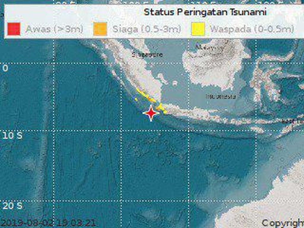 Gempa Guncang Banten, #gempa Jadi Trending Topic Indonesia dan Dunia