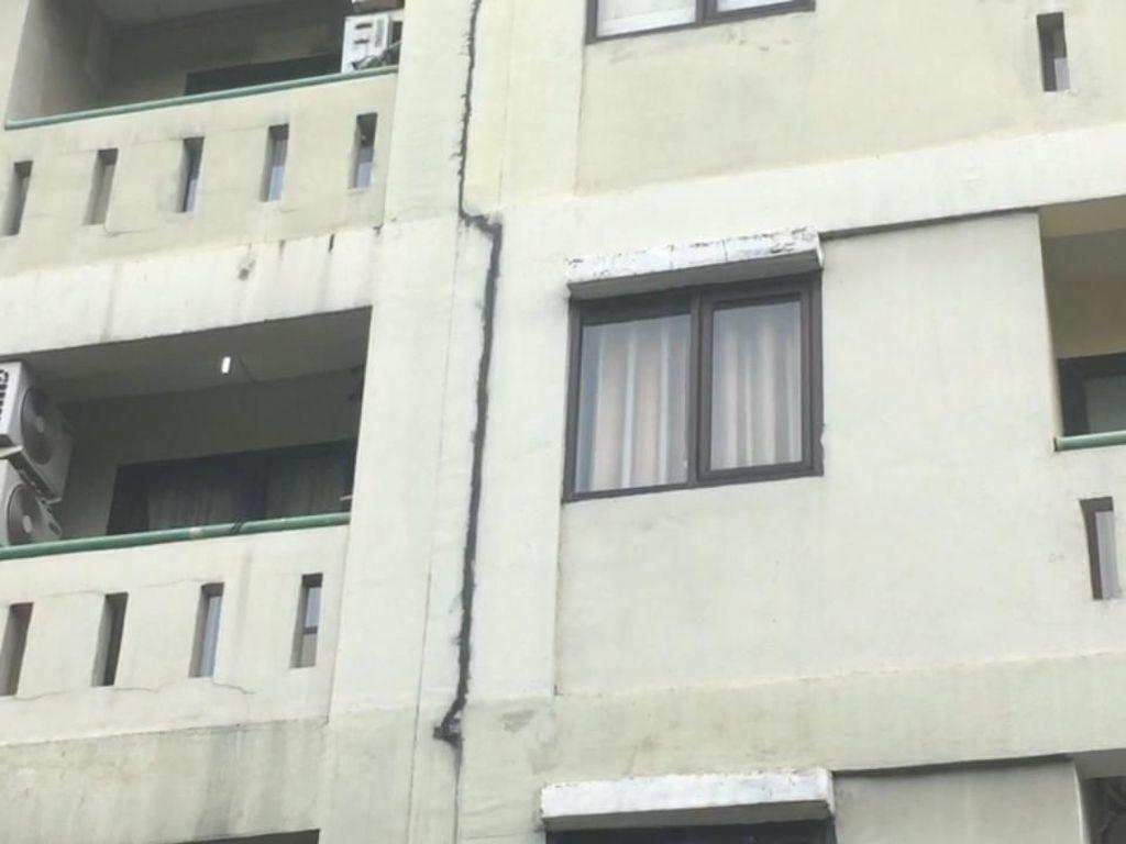 Kata Pihak Apartemen di Jaksel soal Dinding yang Retak Usai Gempa