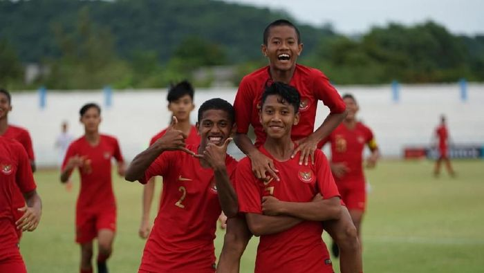 Indonesia ke semifinal Piala AFF U-15. (Foto: dok. PSSI)