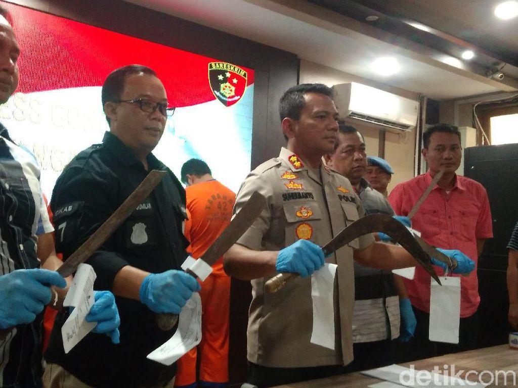 Polisi Tangkap 5 Pelaku Pembacokan Tawuran Antar Desa di Cirebon