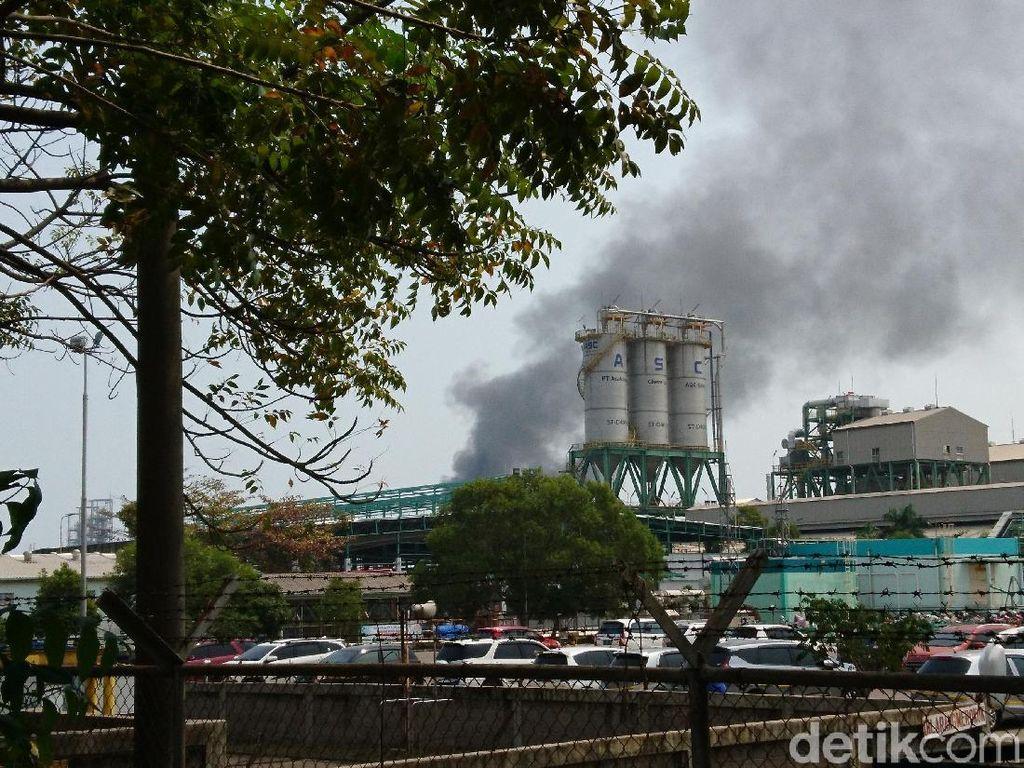 Kebocoran Gas Terjadi di Pabrik Kimia di Cilegon, Karyawan Berhamburan