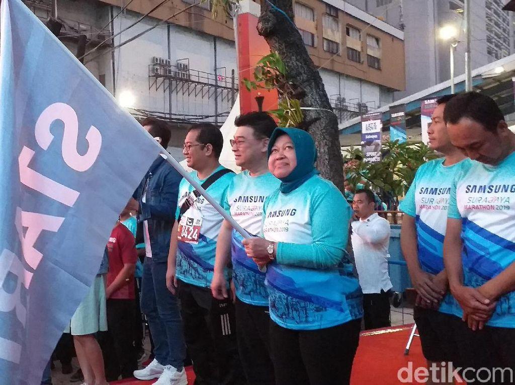 Wali Kota Risma Ucapkan Bela Sungkawa untuk Korban Surabaya Marathon