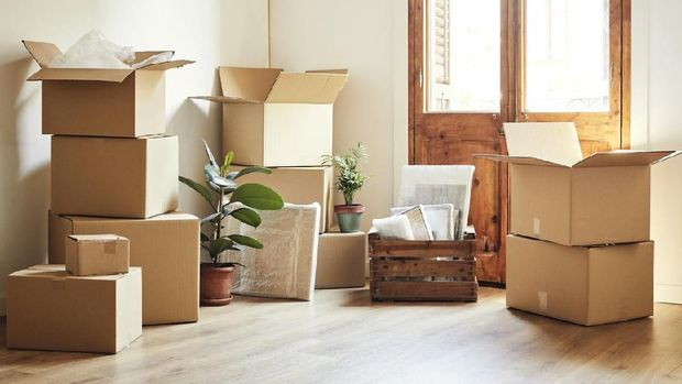 Ilustrasi pindah rumah/