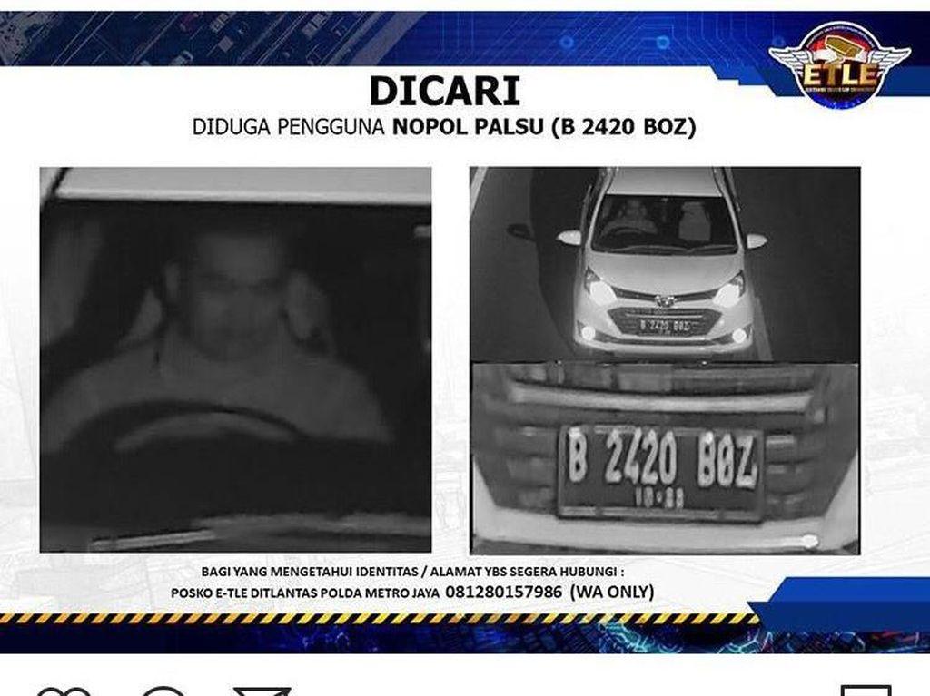 Polisi Cari Pengendara Mobil yang Terekam Kamera e-TLE Gunakan Pelat Palsu