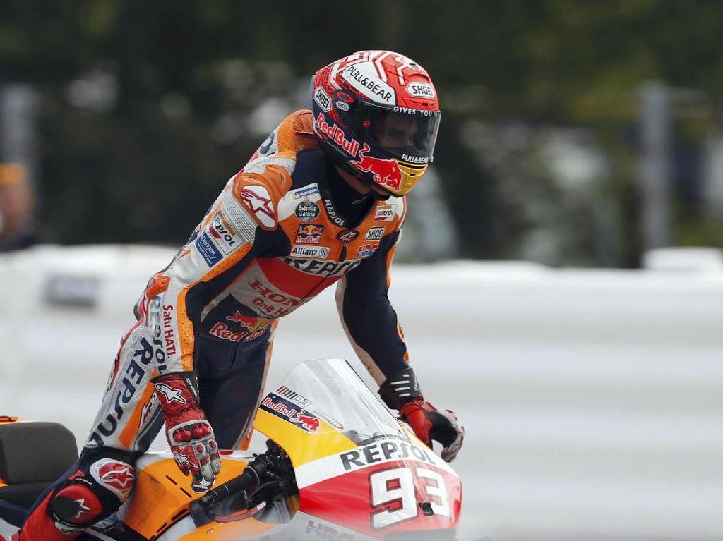 Gaspol Sejak Start, Marquez Sebenarnya Ngeri dengan Kecepatan Yamaha
