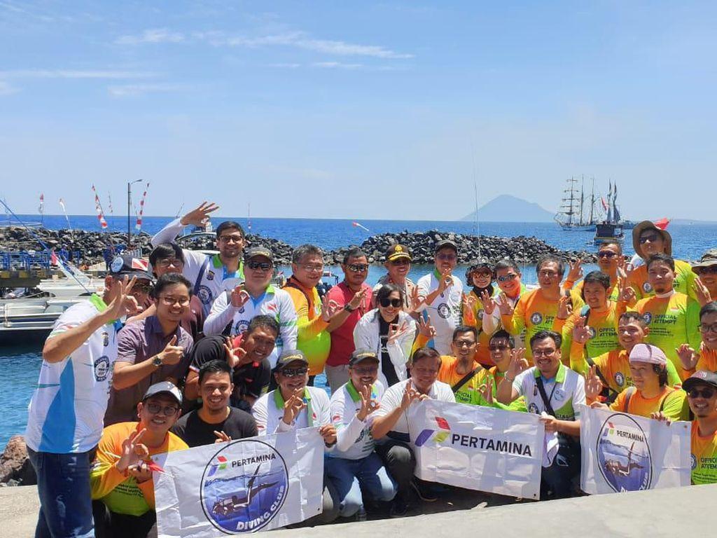 Pecahkan Rekor Dunia, 3.131 Orang Menyelam Serentak di Pantai Manado